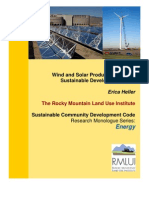 wind & solar production for sustanable development