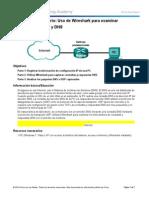 Uso de Wireshark para examinar una captura de UDP y DNS