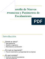 Desarrollo de Nuevos Productos y Parámetros de Escalamiento