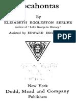 Pocahontas - Elizabeth E Seeylye 1879