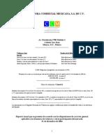 CONTROLADORA COMERCIAL MEXICANA, S.A. DE C.V. Reporte Anual 2014