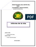 Informe de La Inia