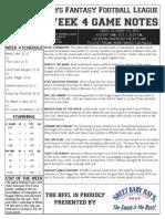BFFL Notes Week 4