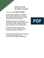 Federico García Lorca - Soneto de la dulce queja