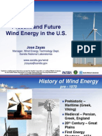 present and future wind energy