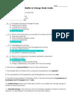 key study guide unit 1 matter   change