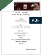 Unidad 4 PROPIEDADES DE LOS MATERIALES