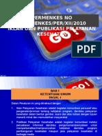 Permenkes 2010 tentang iklan dan publikasi