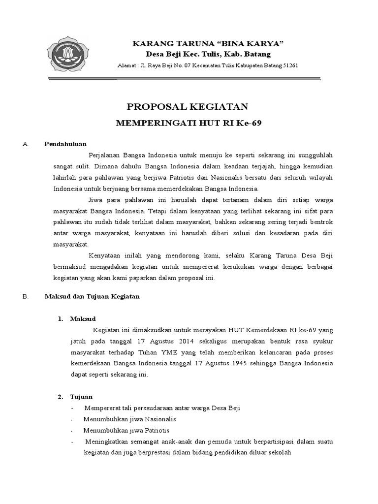 Proposal Kegiatan Karang Taruna Docx
