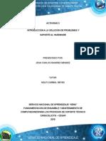 Introducción a La Solución de Problemas y Soporte Al Hardware - Jean Ramirez