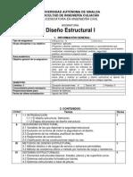 Programa de Materia-diseño Estructural i