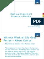 Health and Employment Kevinmorris ACHRF 2011