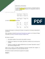 Sistemas de m Ecuaciones Con n Incognitas
