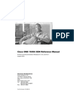 Cisco ONS 15454 SDH Reference Manual