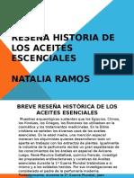 Reseña Historia de Los Aceites Escenciales