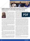 """""""SAEM Academy for Diversity & Inclusion in Emergency Medicine fosters relationship with student group"""" by Jamila Goldsmith, MD in May-June 2015 SAEM Newsletter"""