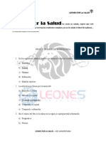 Banco Morfologia 1er. Parcial SS, Leones Por La Salud
