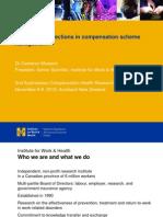 International Directions in Compensation Scheme Management Cam Mustard ACHRF 2012