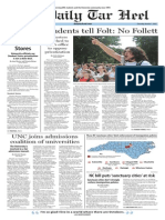The Daily Tar Heel for Oct. 1, 2015