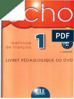 Echo 1 Dvd Le Livret Pedagogique
