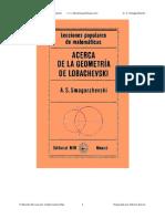 Acerca de La Geometria de Lobachevski - A. S. Smogorzhevski