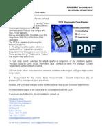 The DCR or Diagnostic Code Reader