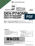 Pioneer Deh p7450mp,Deh p7400mp,Deh p740mp