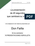 Don Failla Libro Presentacion de 45 Segundos Que Cambiara Su Vida