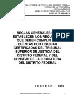 Reglas Generales Cuentas Por Liquidar 20013