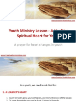 Youth Ministry Lesson - A Healthy Spiritual Heart for Youth