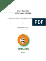 LPile 2012 Users Manual