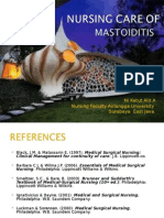 Mastoiditis NCP Sensory Perception