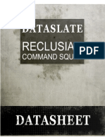 Warhammer 40K - Codex - 6th Space Marines - Dataslate - Reclusiam Command Squad