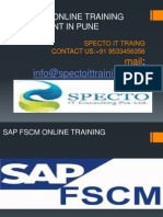 Sap Fscm Online Training and Placemnt in Pune &Uk