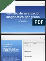 Formato de evaluación diagnóstica