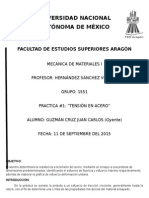 Practica 1 Tension en Acero MECANICA de MATERIALES 1