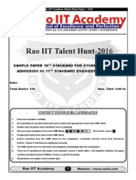 Talent Hunt Sample Papers Std 10th PCM 28-09-2015