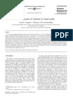 Visual acuity variance