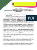 BOLETÍN DE PRENSA LA IM-DEFENSORAS PRESENTA EN EUROPA SU INFORME 2012-2014 DE AGRESIONES CONTRA DEFENSORAS DE DERECHOS HUMANOS EN MÉXICO Y CENTROAMÉRICA (02102015)