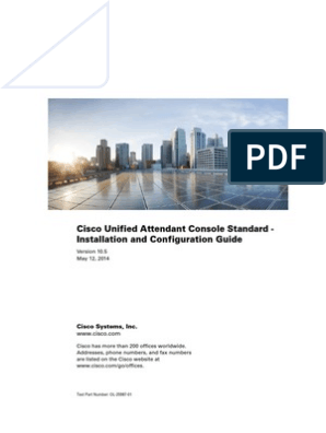 Cisco Unified Attendant Console Standard - Installation and