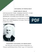 Elijah Shaw II and Martha Ann Thomas Shaw by Robert k Shaw