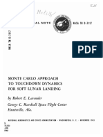 Monte Carlo Approach to Touchdown Dynamics for Soft Lunar Landing