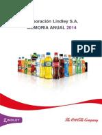 Corporacion Lindley - Memoria anual 2014