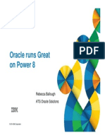 Oracle's Great on POWER8 Cust