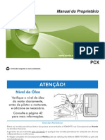 manual de proprietário PCX 2014