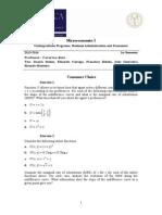 Microeconomics Exercises