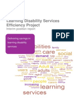 Learning Disability Services Efficiency Project Interim Position Update Report