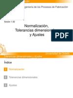 Normalizacion Tolerancias Dimensionales y Ajustes