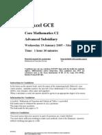 Math Jan 2005 Exam C2