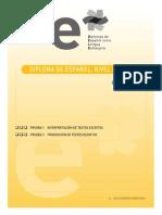 Pruebas i y II Interp y Producc Textos Escritos